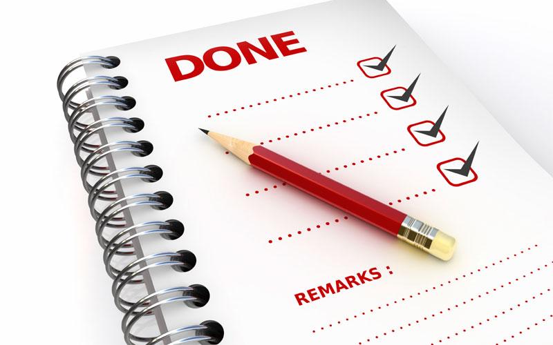 تکمیل کارها قبل از استعفا