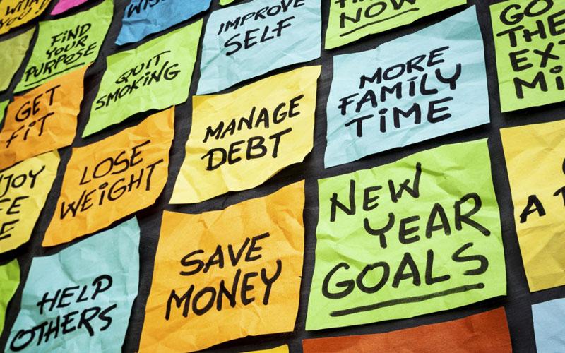 اهدافتان را روی کاغذ بنویسید