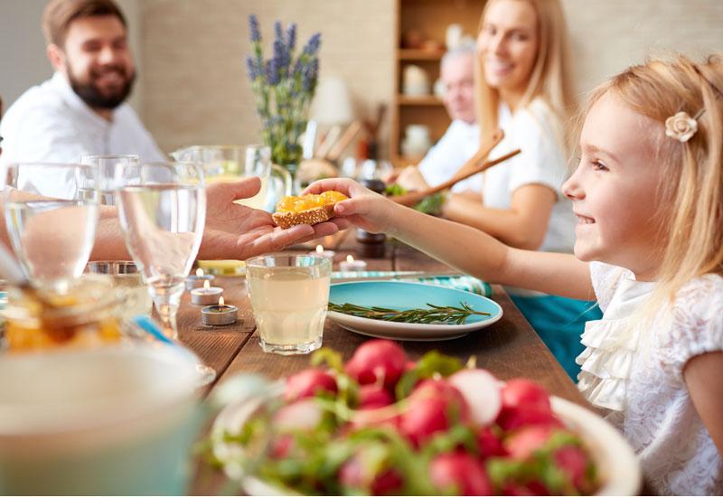 شام در کنار خانواده