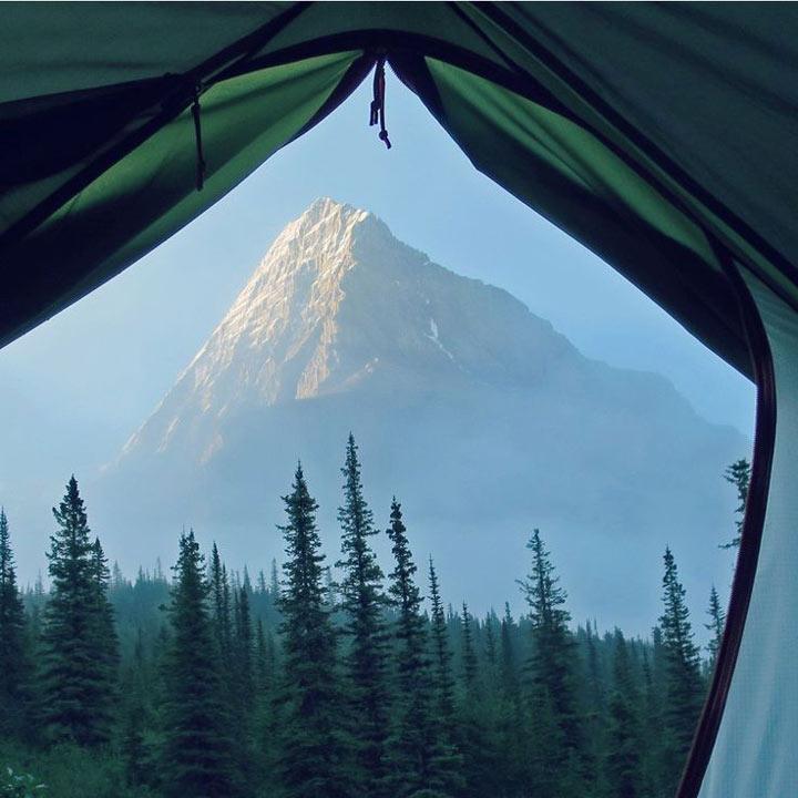 صبح زود در کوه