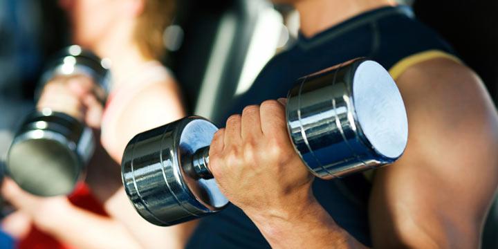 ورزش کردن با وزنه
