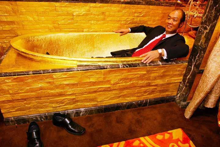 تصویر حمامی از طلا