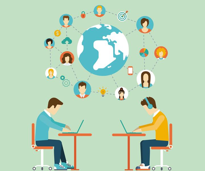 دورکاری، تعامل سازمانی