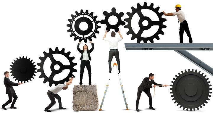 کار تیمی هر فرد مانند چرخدنده