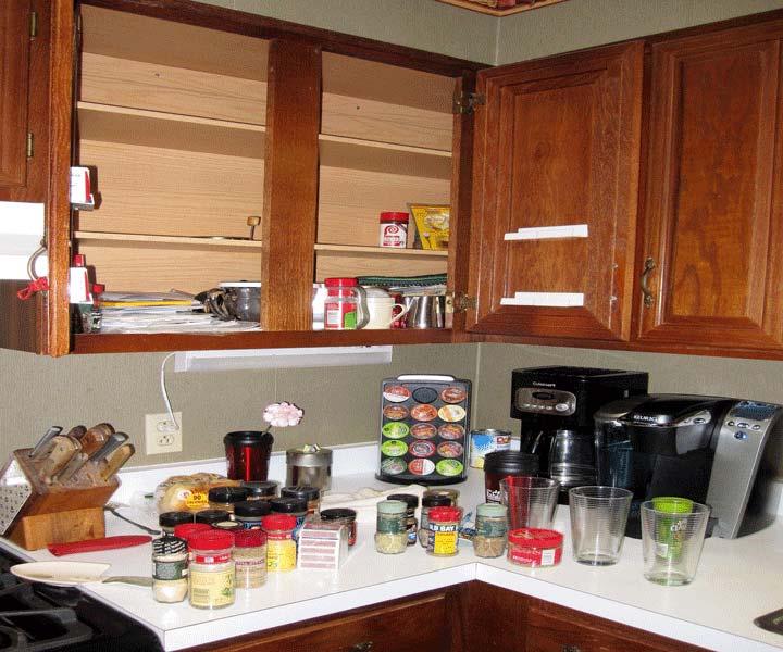 داشتن تغذیه سالم در کابینت ها