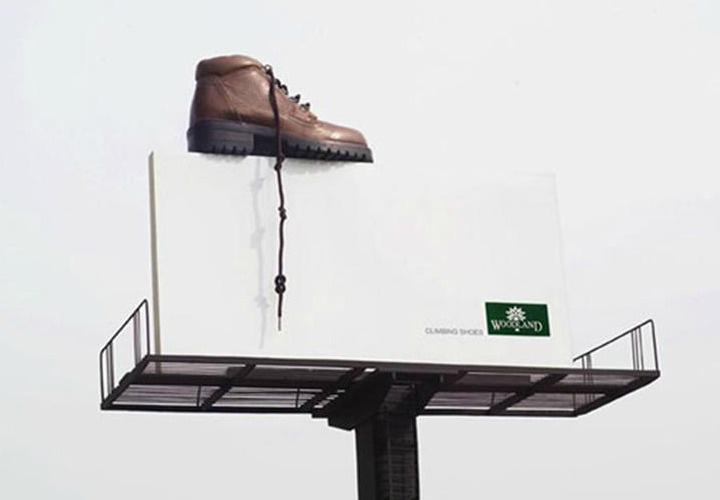 گاهی فقط برای رساندن یک پیام از تبلیغات محیطی استفاده میشود.