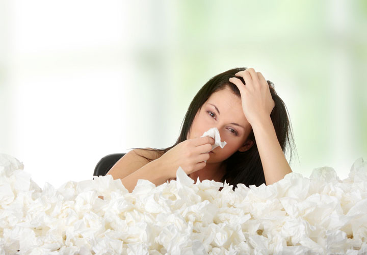 درمان سرماخوردگی و گرفتگی و آبریزش بینی
