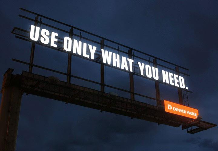 در تبلیغات محیطی سادگی شرط است.