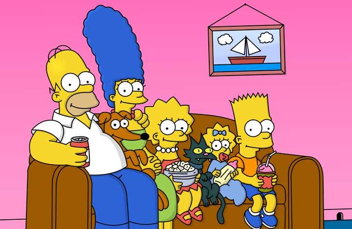 simpsons روش های یادگیری زبان انگلیسی در منزل