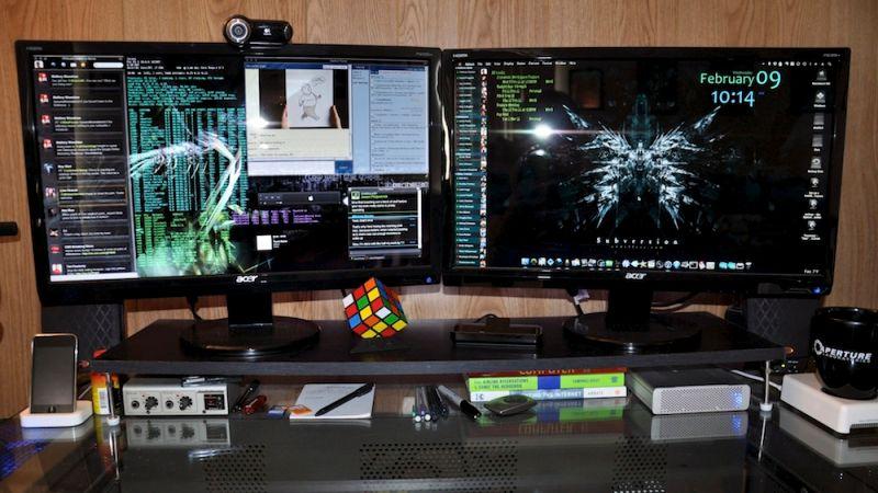 در ارگونومی کار با کامپیوتر ارتفاع مونیتور باید طوری باشد که روبهروی چشم قرار بگیرد