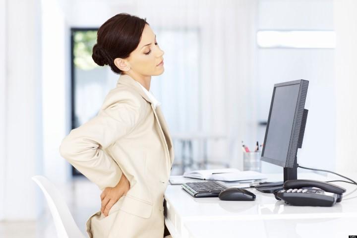 ارگونومی در محیط کار - کمردرد