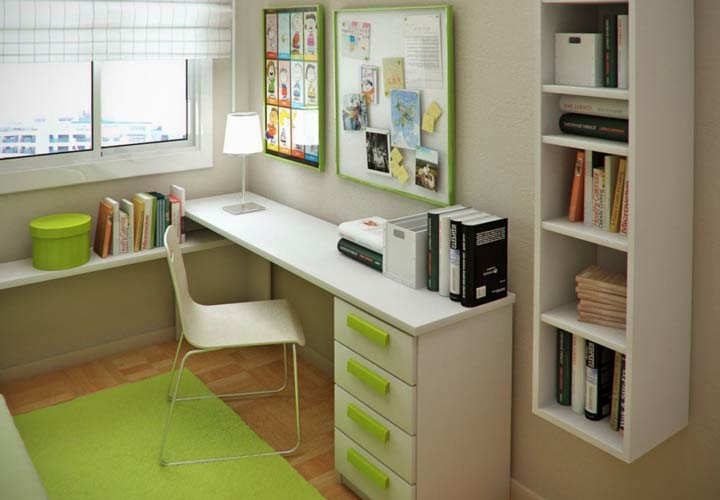 انگیزه برای درس خواندن - میز، اتاق و کاغذهای درسی را مرتب کنید