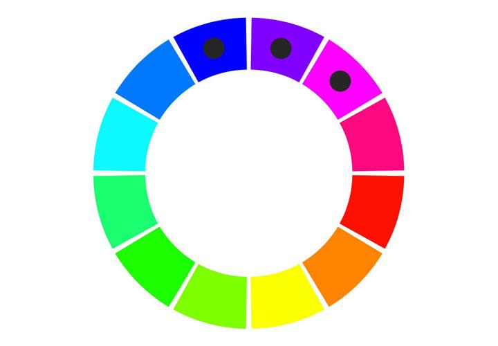 برای ست کردن رنگ لباس استفاده از رنگهای مشابه راهکاری مفید است.