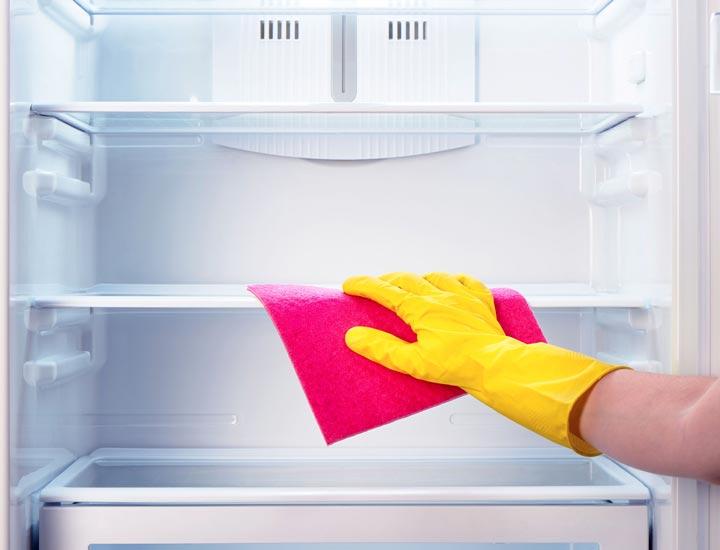 کاربرد سرکه سیب در تمیز کردن یخچال