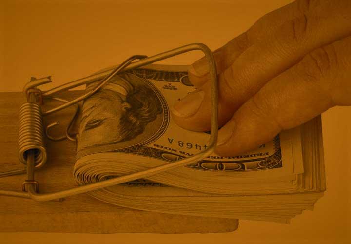 پول در تله موش