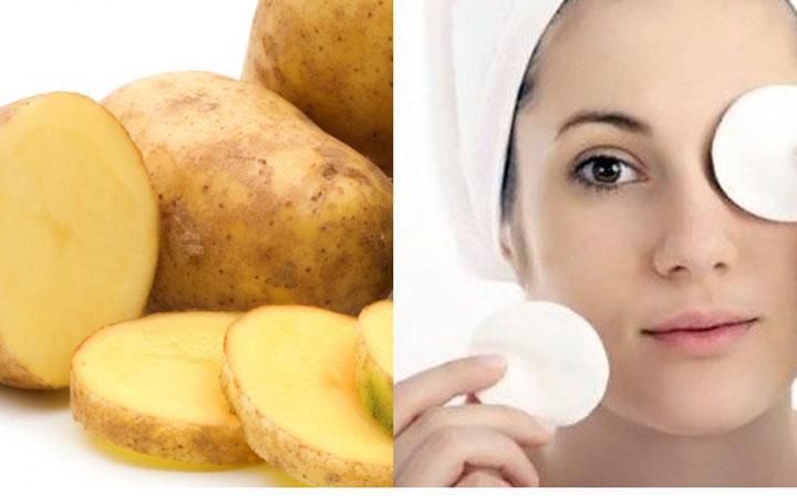 ماسک سیبزمینی - روشن شدن پوست صورت