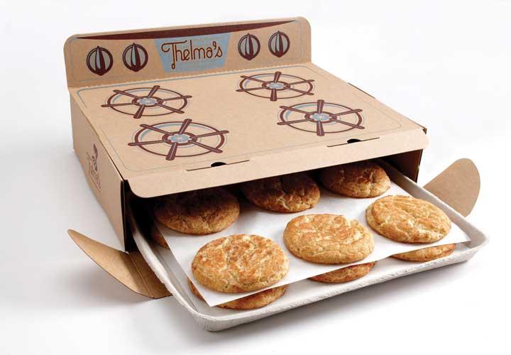 بسته بندی محصولات - بسته بندی خلاقانه ی شیرینی با شمایل فر گازی