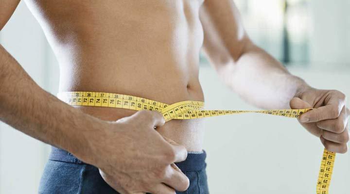 اندازه گیری دور کمر - آب کردن شکم و پهلو
