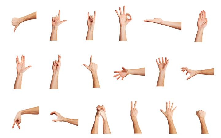 حرکات دست باید به درستی استفاده شوند تا موثر باشند.
