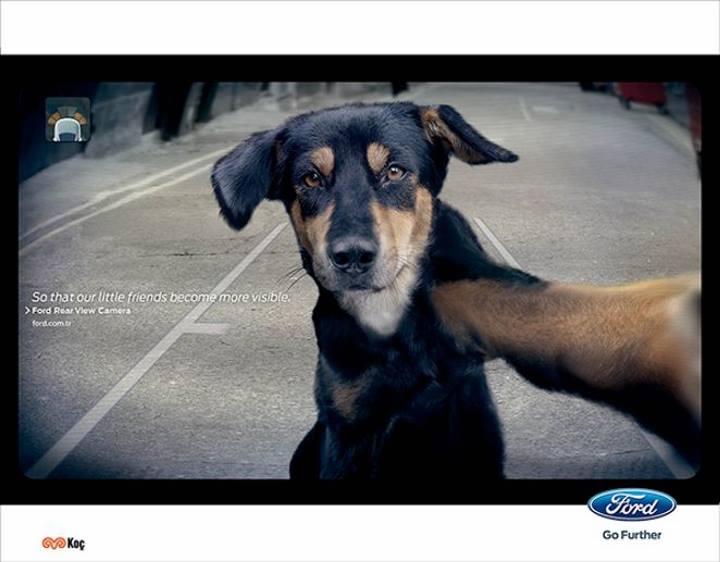 تبلیغات خلاقانه - آگهی تبلیغاتی برای دوربین عقب خودروی فورد
