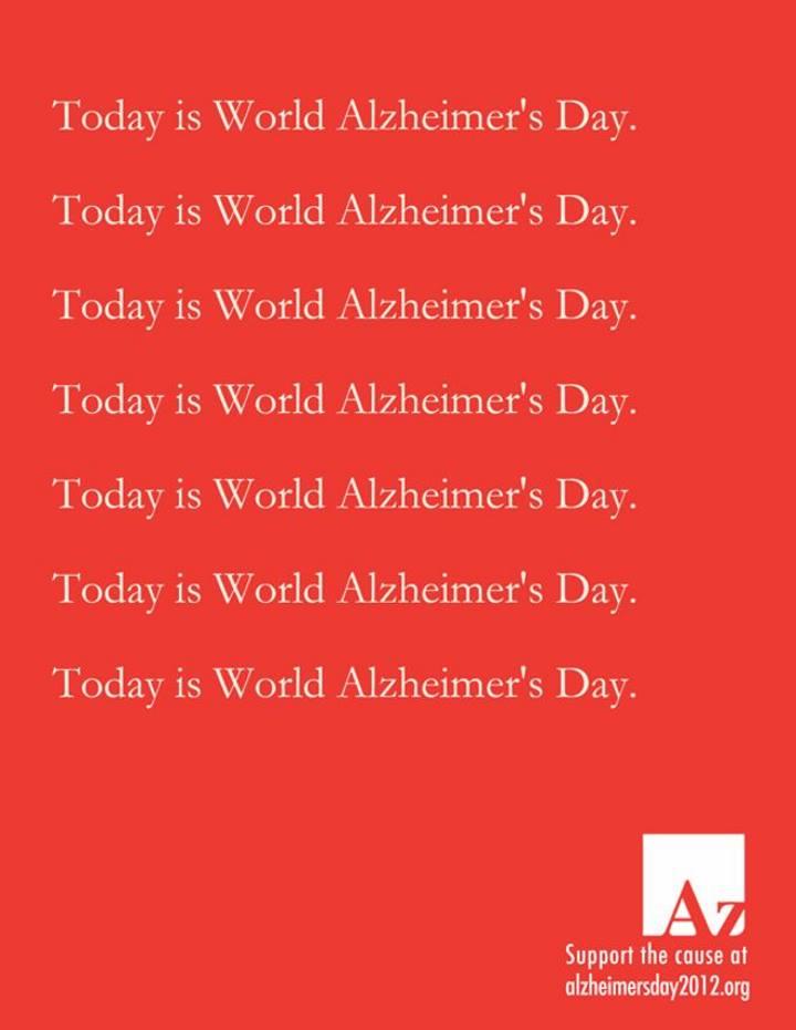 تبلیغات خلاقانه - آگهی تبلیغاتی برای روز جهانی آلزایمر