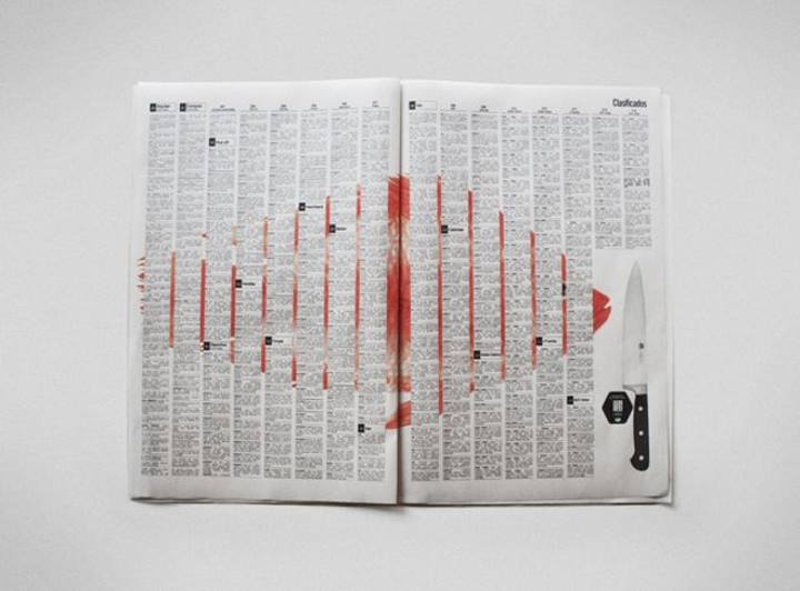 تبلیغات خلاقانه - آگهی تبلیغاتی برای چاقو