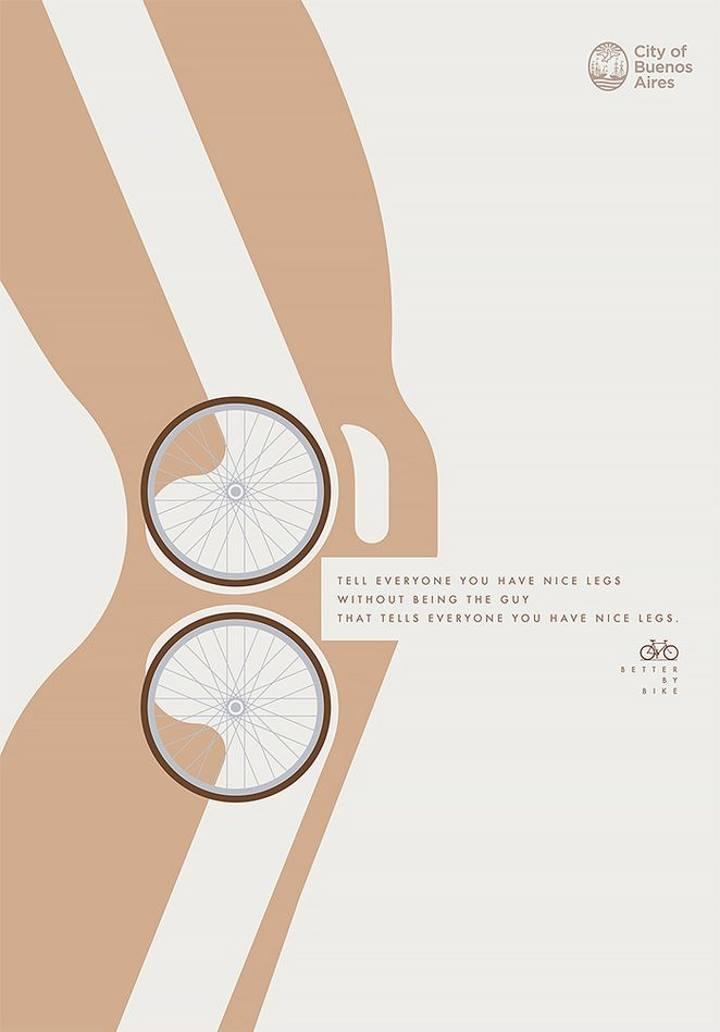 تبلیغات خلاقانه - آگهی تبلیغاتی در مورد مزایای دوچرخه سواری