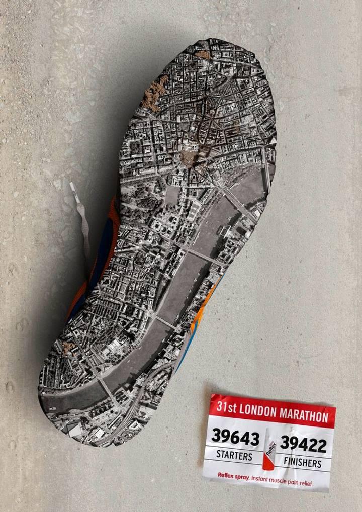 تبلیغات خلاقانه - آگهی تبلیغاتی در مورد ماراتن لندن