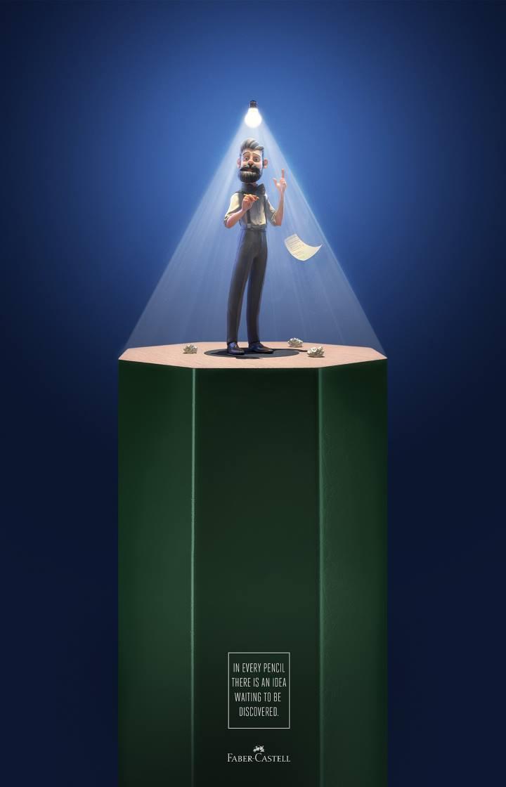 تبلیغات خلاقانه - آگهی تبلیغاتی برای مدادهای فابر کاستل