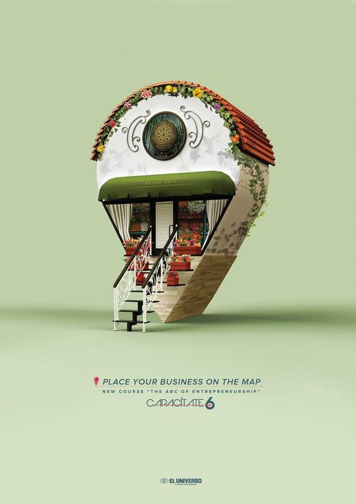 تبلیغات خلاقانه - آگهی تبلیغاتی در مورد دوره های کارآفرینی