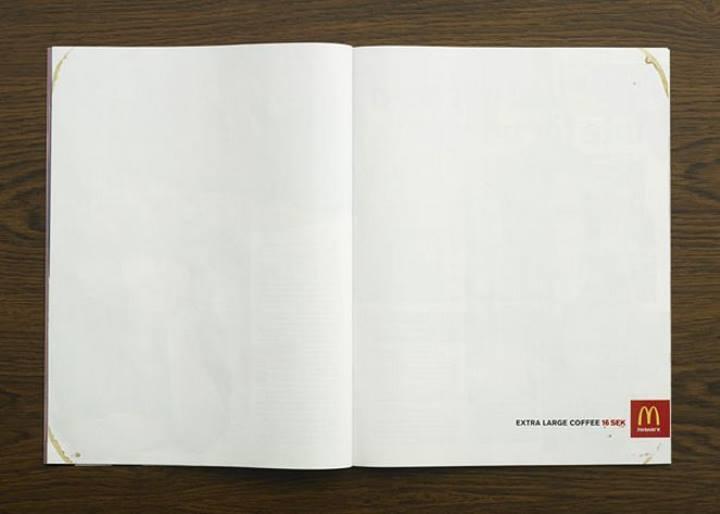 استفاده از صفحه سفید برای ایجاد تبلیغات خلاقانه