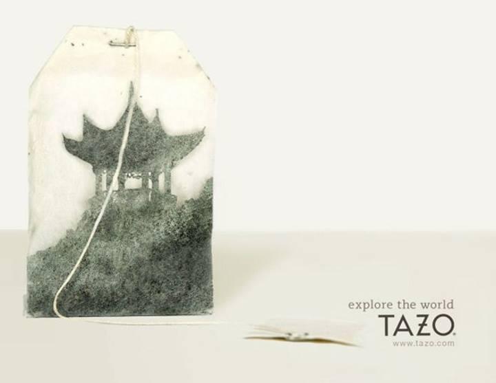 تبلیغات خلاقانه - ایجاد تصویری با خاستگاه و مبدا چای برای تبلیغ برند چای