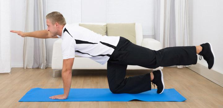 ورزش صبحگاهی - حرکت تعادلی