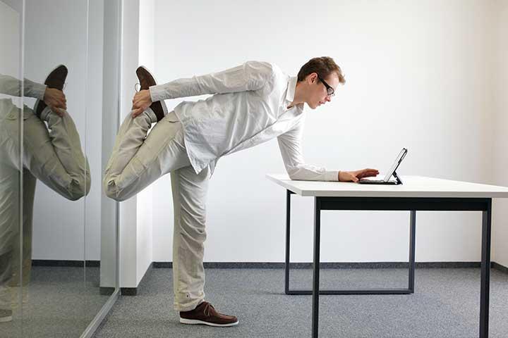 ورزش در محل کار - حرکات بالابری