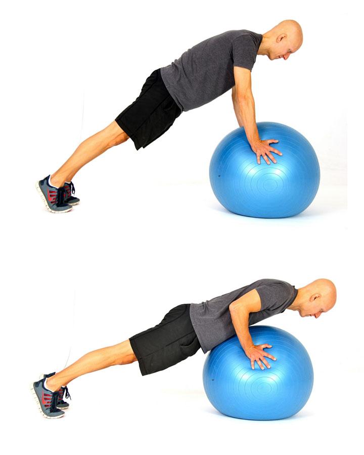 تمرینات شکم و پلانک با توپ تعادلی