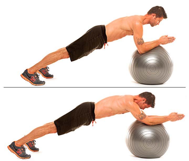 تمرینات شکم و حرکات تعادلی با توپ