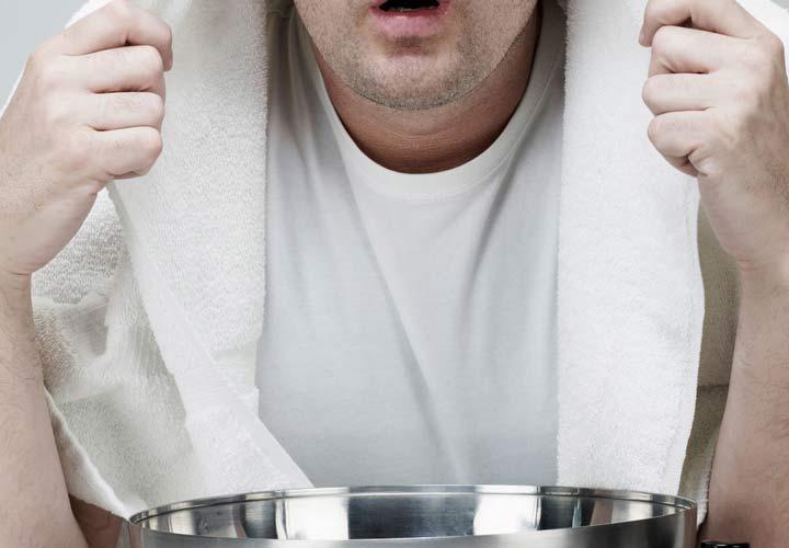 علت سرفه های خشک - بخور خلط و گرفتگیها را کاهش می دهد.