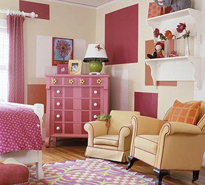 دکوراسیون اتاق خواب دخترانه - قدرت رنگ ها