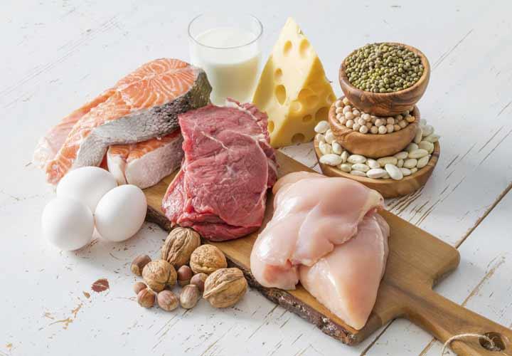 1.2 تا 1.6 گرم پروتئین به ازای هر کیلوگرم وزن فرد در روز برای رژیم پروتئین کافی است.