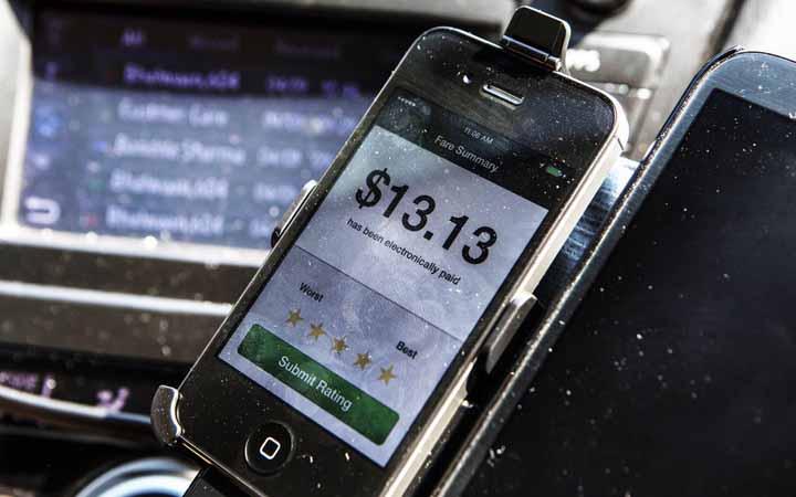 شرکت اوبر مبتنی بر تلفن هوشمند