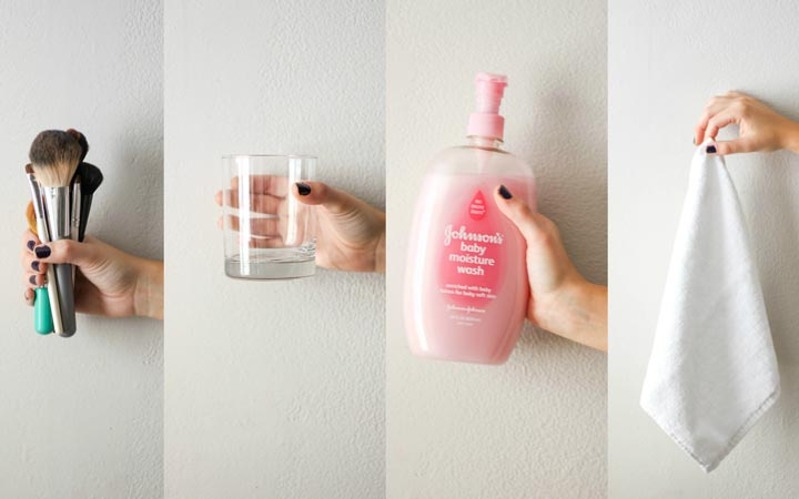 برس های آرایشی خود را با آب ولرم و شامپو بشویید - مراقبت از پوست