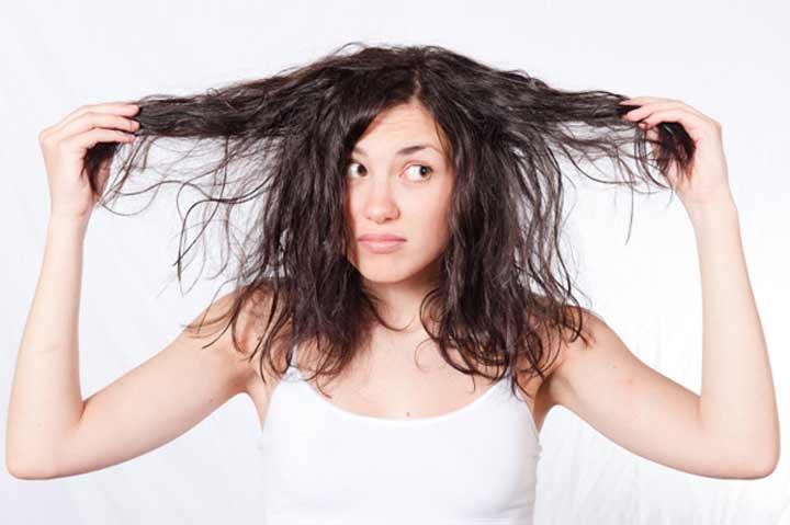 ماسک مو برای موهای خشک