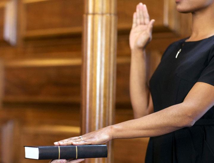 شهادت در دادگاه