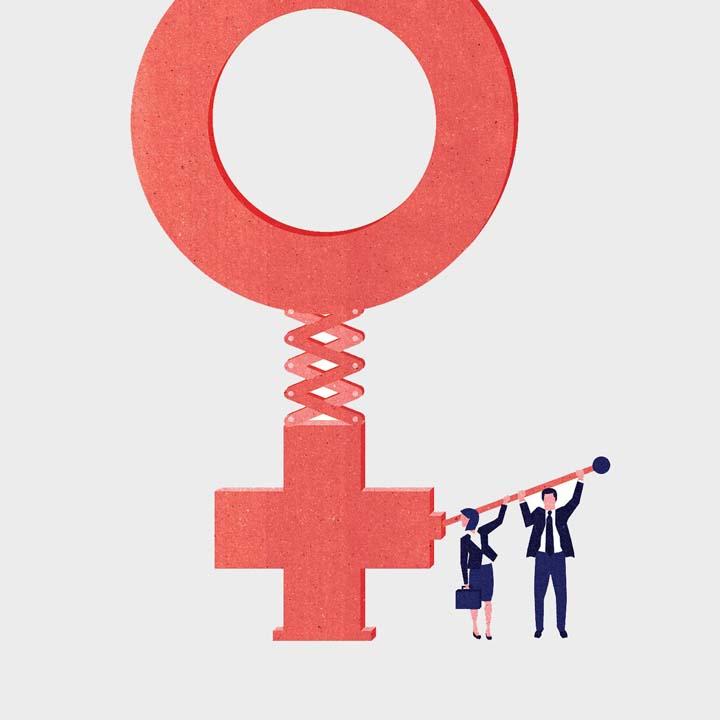رهبری زنان در برابر مردان