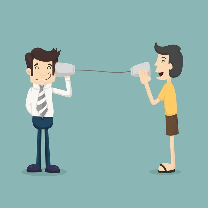 رعایت فن بیان با مشتری با لحنی مناسب