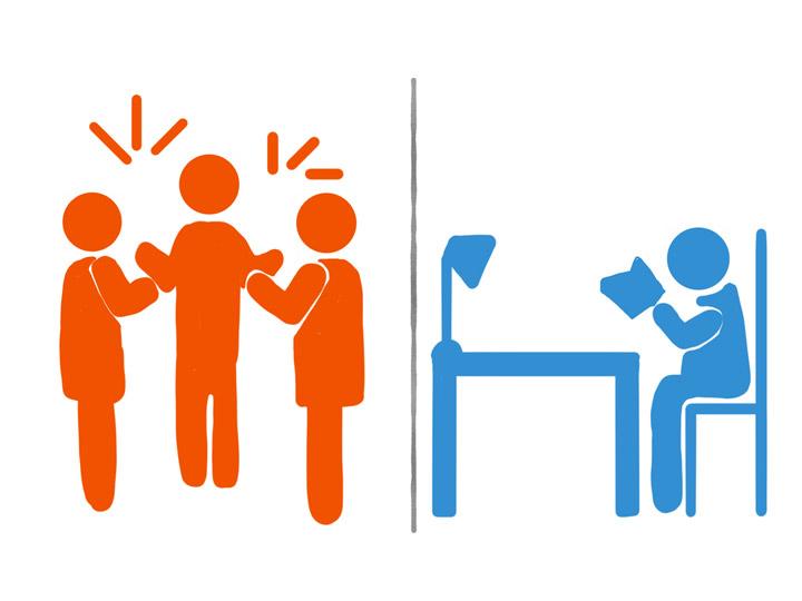 با وجود تفاوت های بین درونگرایان و برونگرایان، هیچ کدام نسبت به هم برتری ندارند - نحوه رفتار با افراد درونگرا