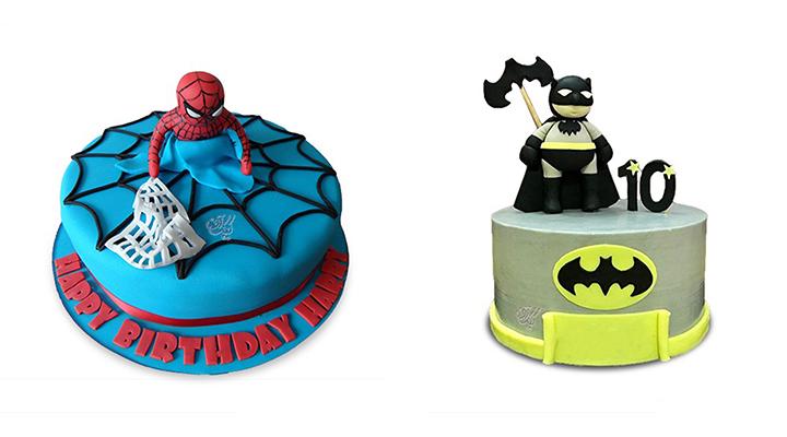 کیک تولد پسرانه-قهرمانهای فیلمها و کارتونها