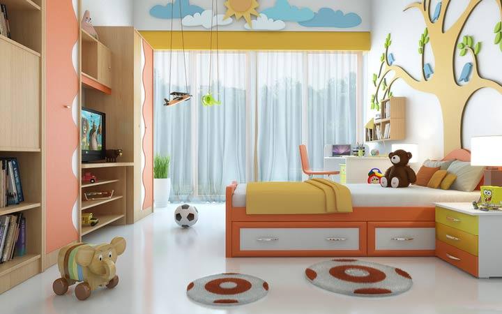 دکوراسیون اتاق کودک - اسباببازی کودک