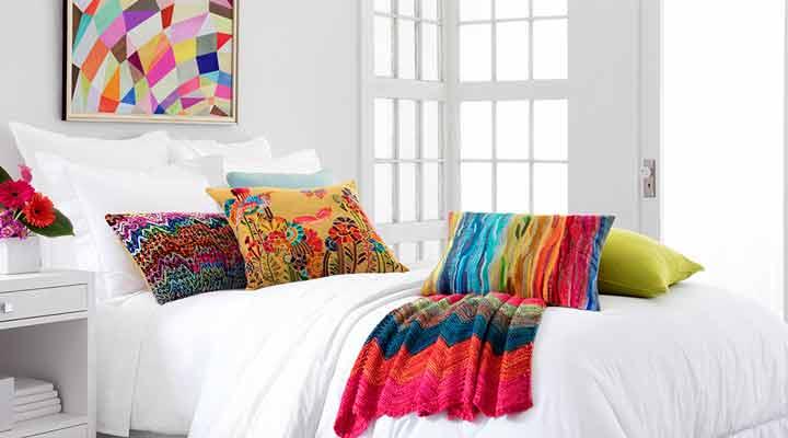 ترکیب رنگ - تزیین اتاق خواب با وسایل ساده