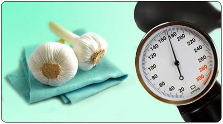 سیر فشار خون را کاهش می دهد.